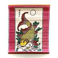Tranh Cá chép trông trăng - Tranh Đông Hồ dán mành