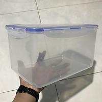 Combo Hộp chống ẩm 4 lít + ẩm kế + 200g hạt hút ẩm xanh (Có tùy chọn máy hút ẩm) cho máy ảnh (tặng mút xốp)
