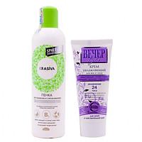 Combo Sữa rửa mặt và tẩy trang tạo bọt, dưỡng ẩm, trắng da Nga cao cấp Krasiva (250ml) + Tặng ngay Kem dưỡng da mặt và mắt Nga cao cấp tinh chất rau mùi tây cho da khô và nhạy cảm Vecher Beyep (60ml) – Hàng chính hãng