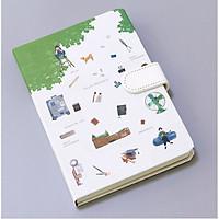 Sổ Kế Hoạch Nhật Ký Du Lịch Cao Cấp - Cài Nam Châm
