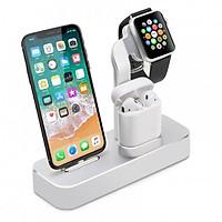 Dock sạc 3in1 dành cho iPhone, Apple Watch, Airpods nhôm nguyên khối Coteetci - Hàng chính hãng