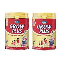 Bộ 2 Lon Sữa Bột Vinamilk Dielac Grow Plus 2+ - Đỏ Hộp Thiếc 900g