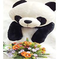 Gấu bông GẤU TRÚC NƠ TIM NẰM- HÀNG NHẬP KHẨU
