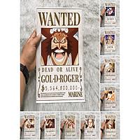 Bộ 10 Poster One Piece có số tiền truy nã cao nhất One Piece Mới (Hình dán tường tiện lợi, Chất lượng Full HD)