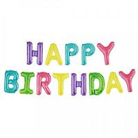 Bong bóng sinh nhật chữ Happy Birthday họa tiết mickey