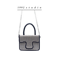 Túi xách nữ/ 1992 s t u d i o / RACHID BAG / màu đen phối hạt lấp lánh