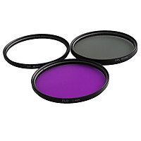 3 Pieces UV / CPL / FLD 55mm Professional Glass Filter Kit Camera