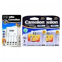 Bộ sạc pin Camelion BC-1010B + 4 pin sạc AAA 1100mAh - Hàng nhập khẩu