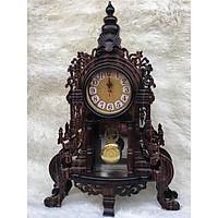 Đồng hồ để bàn gỗ Mun ta hàng cực lạ , đẹp