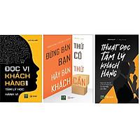 Combo 3 cuốn sách đọc tâm lý khách hàng+ Hãy Bán Thứ Khách Cần+ Đọc vị khách hàng bằng tâm lý học