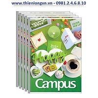 Lốc 5 quyển vở kẻ ngang 80 trang B5 Campus NB-BGIF80 xanh lá