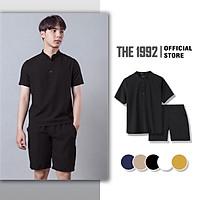 Bộ quần áo đũi nam Đồ bộ thể thao Linen THE 1992