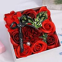 Hộp hoa hồng sáp thơm 15cm - màu đỏ