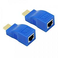 Bộ khuếch đại HDMI qua RJ45 ( cáp mạng ) kéo dài 30m  ( HDMI to lan )