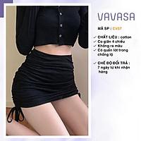 Chân váy rút dây 2 bên body ulzzang ngắn lưng cao công sở VAVASA CV07