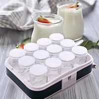 Máy làm sữa chua 12 cốc thủy tinh TẶNG KÈM vòng tay tỳ hưu phong thủy