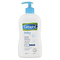 Sữa tắm gội toàn thân Cetaphil Baby Gentle Wash & Shampoo 2 in 1 400ml