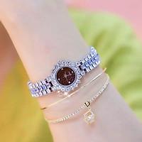 Đồng hồ thời trang nữ M655 dây kim loại đính đá nhân tạo - không kèm vòng tay