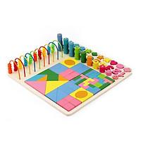 Đồ chơi học tập - Bảng Học toán tư duy kết hợp lắp ghép an toàn cho bé