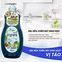 Nước Rửa Rau Củ - Nước Rửa Chén Bát - Nước Rửa Sinh Học Eco Green Hàn Quốc - Táo - Hàng Nhập Khẩu Hàn Quốc
