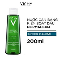 Nước Cân Bằng Vichy Se Khít Lỗ Chân Lông Dành Cho Da Dầu Mụn Normaderm Purifying Pore-Tightening Lotion 200ml