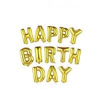 Bong bóng sinh nhật chữ Happy Birthday màu Vàng