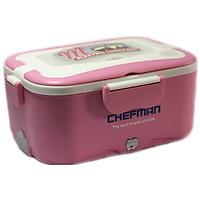 Hộp Cơm Điện Hâm Nóng Đa Năng ChefMan - Hộp Cơm inox 2 ngăn tiện dụng+ Tặng Túi Đựng + Đũa Thìa, Dĩa