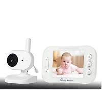 Máy hỗ trợ theo dõi em bé, báo khóc, có tính năng ghi âm 2 chiều 350, màn hình LCD 3.5inch ( Tặng kèm bộ 6 con bướm dạ quang phát sáng ) )