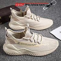 Giày Sneaker nam cao cấp cổ cao lưới vàng nhạt thời trang hàn quốc CCLVN 03 Tặng móc khóa nam