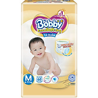 Tã quần cao cấp Bobby Extra Soft Dry M60 (60 miếng)