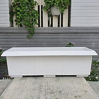 Combo 05 chậu dài kiểu mái ngói nhựa dày trồng rau, hoa size 62cm x 23cm x 19cm