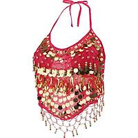Trang Phục Belly Dance Bra Halter Top Trang Phục Biểu Diễn Sequin