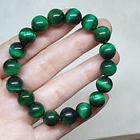 Vòng tay đá mắt hổ thiên nhiên xanh lá Size 8li – VTD263