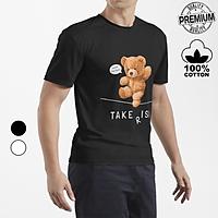Áo Thun Premium Nam Nữ  hình GẤU Bear Toy Take Risk, Unisex Form rộng 100% Cotton Co Giãn 4 Chiều Thoáng Mát