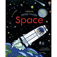 Usborne Peep Inside Space (Board Book)
