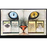 Bộ Tem Sưu Tầm Malaysia 1999 Các Loài Mèo Đáng Yêu - 4 Con Stamps
