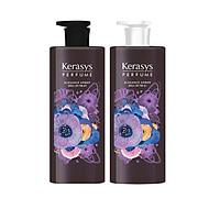 Bộ dầu gội, xả nước hoa cao cấp bổ sung dưỡng chất giúp hạn chế hư tổn và gãy rụng cho tóc KERASYS ELEGANCE AMBER 600ml - Hàn Quốc Chính Hãng