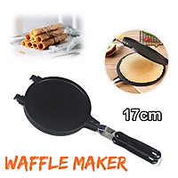 17cm Non-Stick Mold Waffle Maker Ice Cream EggRoll Omelet Crispy Cone Home Baking Pan
