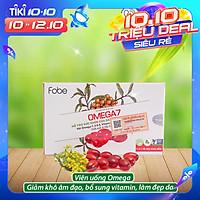 Giảm khô âm đạo, làm đẹp da. Dùng được cho người ăn chay- u xơ - u nang ( Fobe Omega7 ) . Hộp 10 viên.