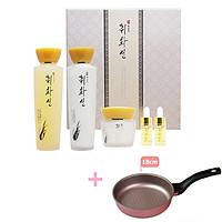 Bộ sản phẩm dưỡng trắng, chăm sóc và chống lão hóa, phục hồi làn da CHWI HWA SEON Tặng 1 Chảo chống dính Ecoramic Hàn Quốc 18cm - Hàng chính hãng