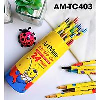 Bút sáp vặn ống 24 màu AM-TC403