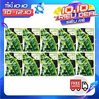 Combo 10 Gói Mặt Nạ Trà Xanh Dưỡng Da 3w Clinic Fresh Greentea Mask Sheet 100% Cotton (23ml/Miếng)