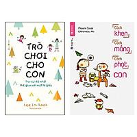 Combo 2 cuốn sách cùng con trưởng thành: Trò Chơi Cho Con: Trò Vui Dễ Nhất Thế Gian Với Một Tờ Giấy + Cách Khen, Cách Mắng, Cách Phạt Con + Tặng bookmark Happy