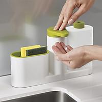 Kệ để đồ rửa chén, nước rửa chén và rửa tay 3 in 1