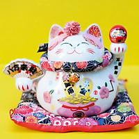 Mèo Thần tài Tròn 15cm - Daruma Bát Phương Tấn Tài