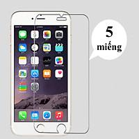 Combo bộ 5 miếng kính cường lực 9H dán màn hình cho iPhone 6/6s/7/8