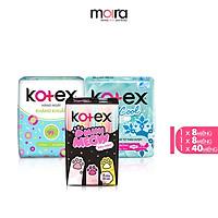 Combo BVS Kotex hằng ngày kháng khuẩn + Thảo dược Cool SMC + Mini Meow SMC 8 miếng