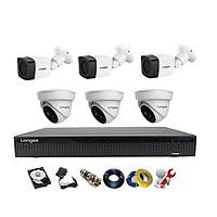 Camera Longse TVI 2.0MP 1080p bộ 6 mắt (Nhựa) - Hàng chính hãng