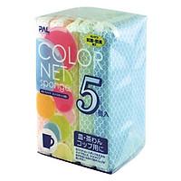 Set 5 Miếng Xốp Rửa Bát Bọc Lưới - Nội Địa Nhật Bản