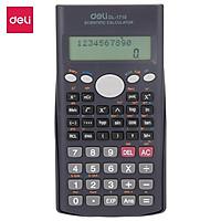 Máy tính kỹ thuật Deli 12 số, 240 chức năng, Đen E1710
